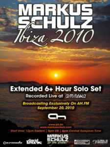 Markus Schulz Solo Extended 6+ Hour Set from Amnesia (20-09-2010) - транс музыка