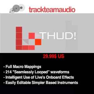 ���������� ������� Trackteam Audio THUD Basses [Ableton Livepack]