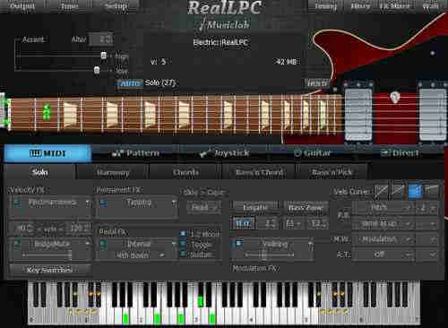 MusicLab RealLPC v3.1.0 x86 x64 (Win/OSX) - виртуальная электрогитара